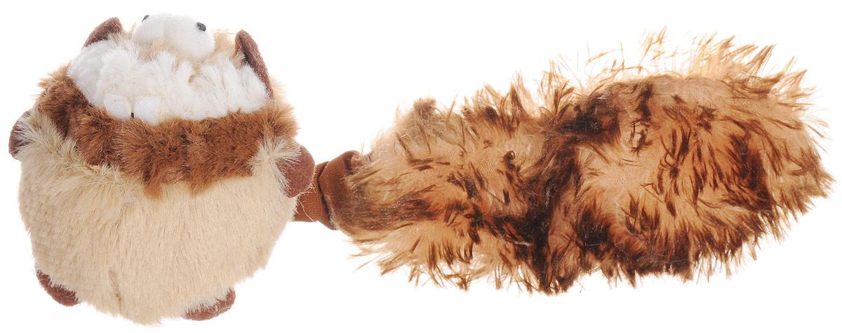 Игрушка для собак GiGwi Барсук, с 2-мя пищалками, с мячом75106