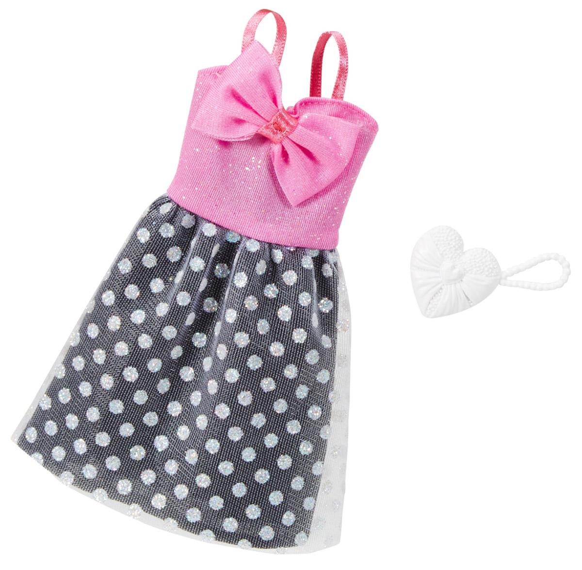 Barbie Одежда для кукол Платье Evening Glam цвет серый розовый FCT22_FCT32