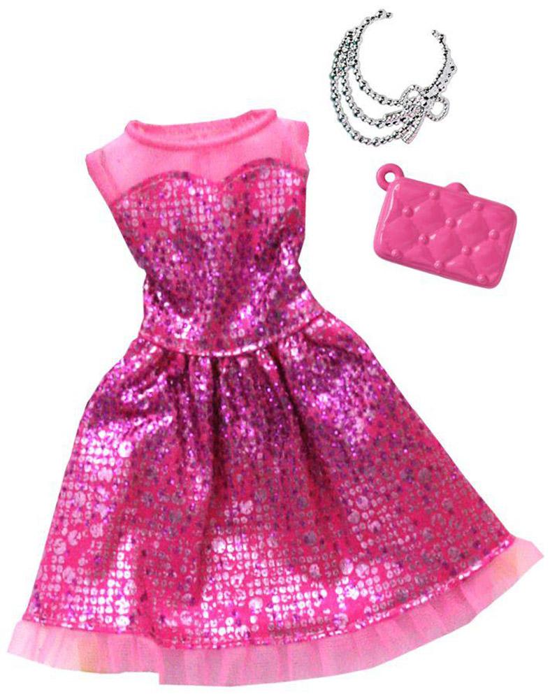 Barbie Одежда для кукол Платье Evening Glam цвет розовый FCT22_FCT33