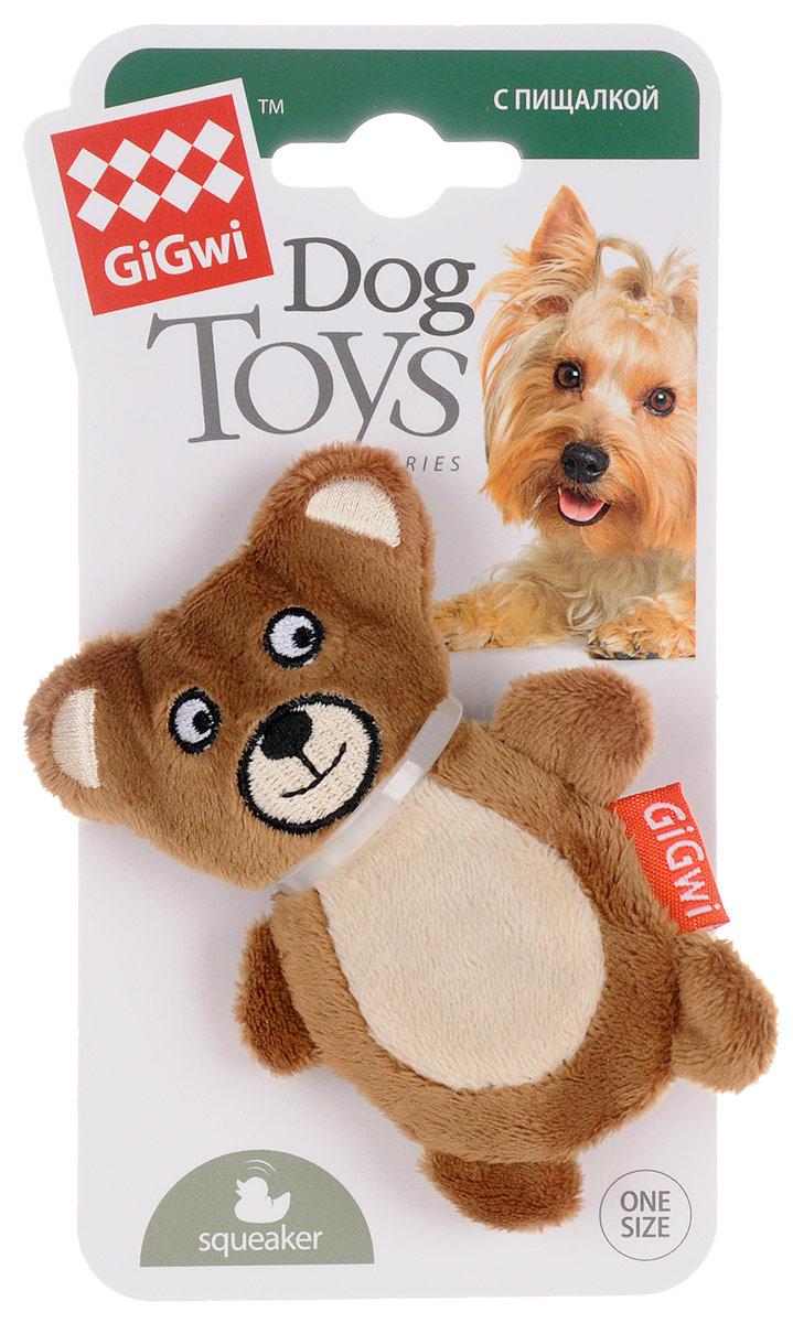 Игрушка для собак GiGwi Мишка, с пищалкой, длина 9,5 см75023Игрушка для собак GiGwi Мишка порадует вашу собаку и доставит ей море веселья. Несмотря на большое количество материалов, большинство собак для игры выбирают классические плюшевые игрушки. Такие игрушки можно носить, уютно прижиматься во сне, жевать. Некоторые собаки просто любят взять в зубы игрушку и ходить с ней повсюду. Мягкие игрушки сохраняют запах питомца, поэтому он каждый раз к ней возвращается. Милые, мягкие и приятные зверушки характеризуются высоким качеством исполнения и привлекательным дизайном. Внутри игрушки нет наполнителя, что поможет сохранить чистоту в помещении. Игрушка снабжена пищалкой, которая привлекает внимание животного.
