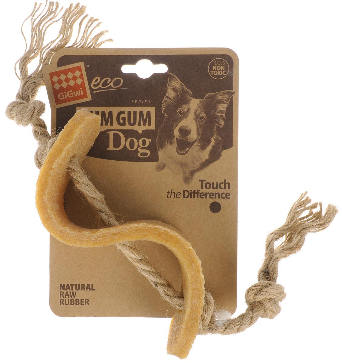 Игрушка для собак GiGwi Доллар, длина 13,5 см75344Игрушка для собак GiGwi Доллар выполнена из натуральных компонентов - 100% нетоксичного каучука и льняного жгута. Натуральные материалы игрушки не вредят здоровью вашего питомца, его зубам и деснам, тем самым обеспечивая здоровую игру для вашего друга.