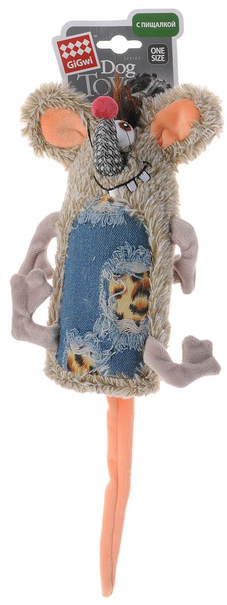 Игрушка для собак GiGwi Мышь, с пищалкой, длина 35 см75288Игрушка для собак GiGwi Мышь порадует вашу собаку и доставит ей море веселья. Несмотря на большое количество материалов, большинство собак для игры выбирают классические плюшевые игрушки. Такие игрушки можно носить, уютно прижиматься во сне, жевать. Некоторые собаки просто любят взять в зубы игрушку и ходить с ней повсюду. Мягкие игрушки сохраняют запах питомца, поэтому он каждый раз к ней возвращается. Милые, мягкие и приятные зверушки характеризуются высоким качеством исполнения и привлекательным дизайном. Внутри игрушки нет наполнителя, что поможет сохранить чистоту в помещении. Игрушка снабжена пищалкой.
