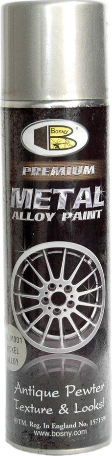 Аэрозольная краска для дисков Bosny, цвет: m001 олово, 300 млM001Краска для дисков - блестящая серебряная краска, которая похожа на легкие металлические сплавы. Быстрое высыхание. Наносится на сталь, дерево, большинства пластмасс. Подходит для автомобилей, литых дисков, инструментов, мебели, игрушек и и других изделий. Отличительными особенностями этой краски являются ее полезные свойства – она быстро сохнет, замечательно удерживается на покрываемой поверхности, будь то автомобильный диск или стальной инструмент. Так же эта спрей краска для дисков хорошо ложится на такие поверхности, как дерево или пластмассы. Краска поставляется в удобной таре – баллончиках, с помощью которых и наносится на окрашиваемую поверхность, что избавляет человека от необходимости использования краскопульта. Распылитель баллончика позволяет наносить краску равномерно, как на плоскости, так и на фигурные поверхности без использования вспомогательных инструментов. Цвет краски – серебристый, поэтому ее можно применить к большинству автомобильных дисков. Окрашивать можно диск...