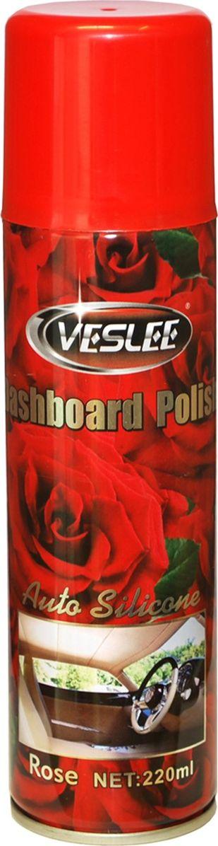 Очиститель-полироль Veslee Роза, с силиконом, для пластика, кожи и резины, 220 мл (аэрозоль)VL-17AПрименяется для ухода за приборной панелью, а также различными пластиковыми, резиновыми и виниловыми элементами салона автомобиля. Удаляет пыль и грязь, пятна и отпечатки пальцев. Образует на поверхности плёнку с пылеотталкивающими свойствами, придаёт поверхности блеск. Защищает от негативного воздействия ультрафиолета и предотвращает появление микротрещин. Обладает свежим ароматом, нейтрализующим неприятные запахи.