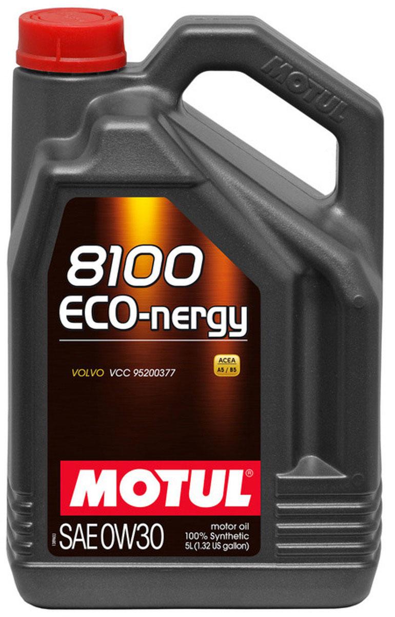 Масло моторное Motul 8100 Eco-Nergy, синтетическое, 0W-30, 5 л102794100% синтетическое моторное масло для бензиновых и дизельных двигателей. Энергосберегающее. Энергосберегающее 100% синтетическое моторное масло специально разработано для мощных современных бензиновых и дизельных двигателей автомобилей, в том числе с непосредственным впрыском, для которых предусмотрено использование масел с низкой высокотемпературной вязкостью в условиях высоких скоростей сдвига (HTHS). Предназначено для всех современных бензиновых и дизельных двигателей, для которых предписаны масла Fuel Economy (ACEA A1/B1 и А5/В5), совместимо с системами нейтрализации отработавших газов. ACEA Стандарты: ACEA A5/B5 API Стандарты: API SL/CF Одобрения: VOLVO VCC 95200377