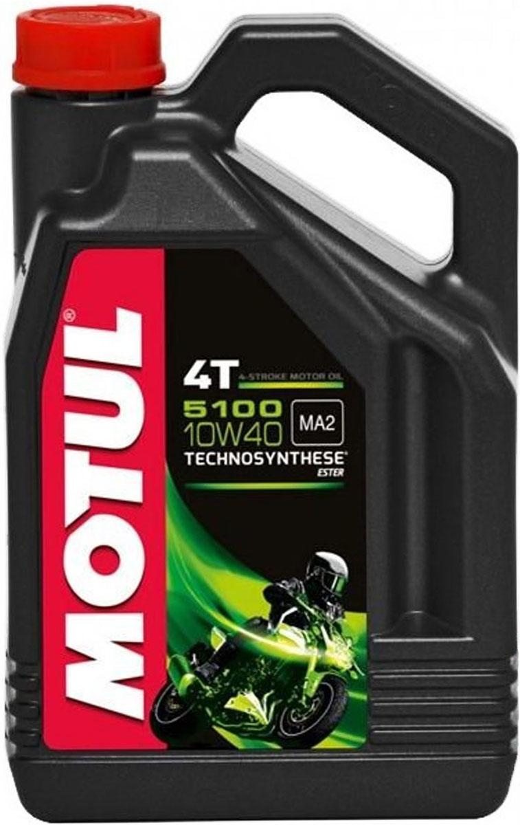 Масло моторное Motul 5100 4T. Technosynthese, синтетическое, 10W-40, 4 л104068Моторное масло для 4-х тактных мотоциклов. Создано по технологии сложных эфиров (эстеров), Technosynthese . Улучшенная стойкость масляной пленки обеспечивает защиту двигателя и коробки переключения передач, а также плавное переключение. Соответствует требованиям Jaso Ma2, что обеспечивает четкость работы сцепления в масляной ванне. Совместимо с системами нейтрализации отработавших газов. API Стандарты: API SG/SH/SJ/SL/SM JASO Стандарты: JASO MA2 M033MOT112
