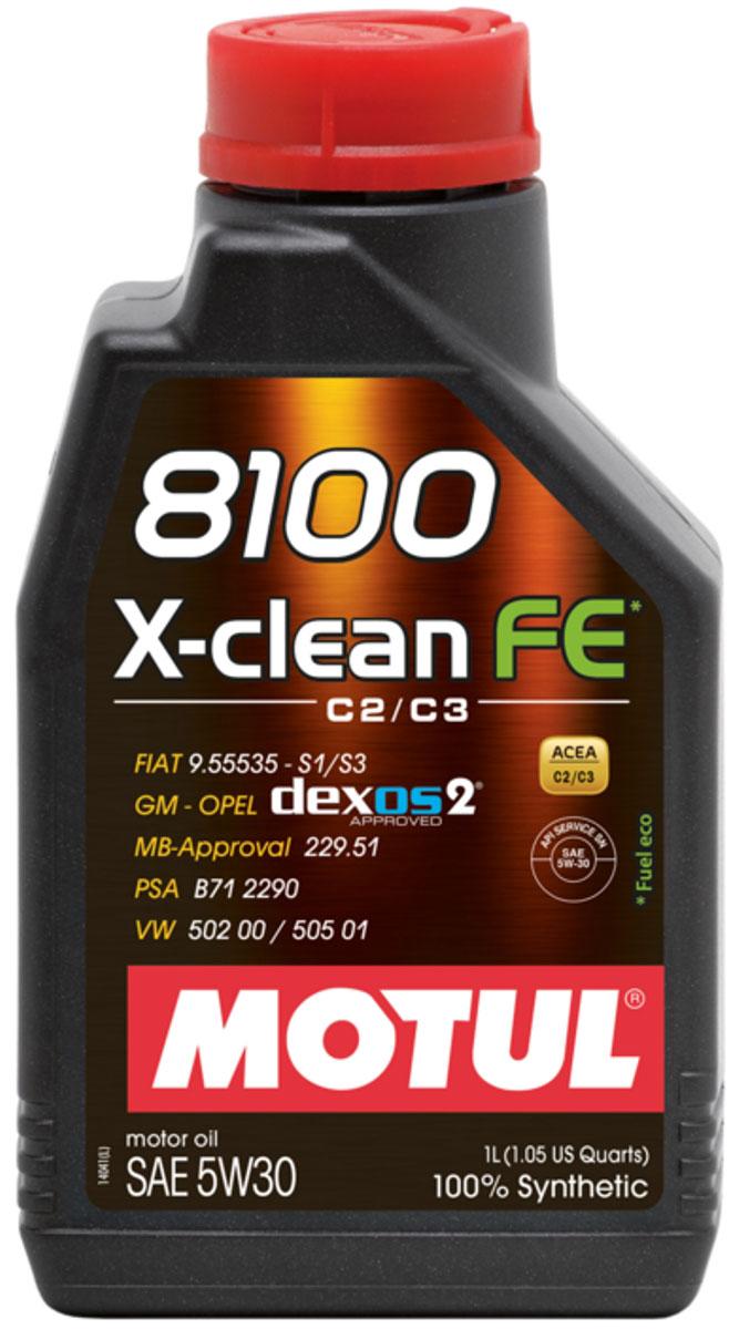 Масло моторное Motul 8100 X-Clean, синтетическое, 5W-30, 1 л104775100% синтетическое моторное масло со сниженным содержанием сульфатной золы (?0,8%), фосфора (0.07%-0.09%), серы (?0.3%) - Mid SAPS. Специально разработано для обеспечения высоких защитных свойств и топливной экономичности. Применяется для последнего поколения бензиновых и дизельных двигателей, отвечающих требованиям норм Евро IV и Евро V, которые оснащаются каталитическим нейтрализатором или сажевым фильтром (DPF). Соответствует требованиям PSA B71 2290 и GM-OPEL dexos2. ACEA Стандарты: ACEA C2 / C3 API Стандарты: API SERVICES SN / CF Одобрения: GM-OPEL dexos2; MB-Approval 229.51; PSA B71 2290; VW 502 00 / 505 01; FIAT 9.55535-S1 / S3