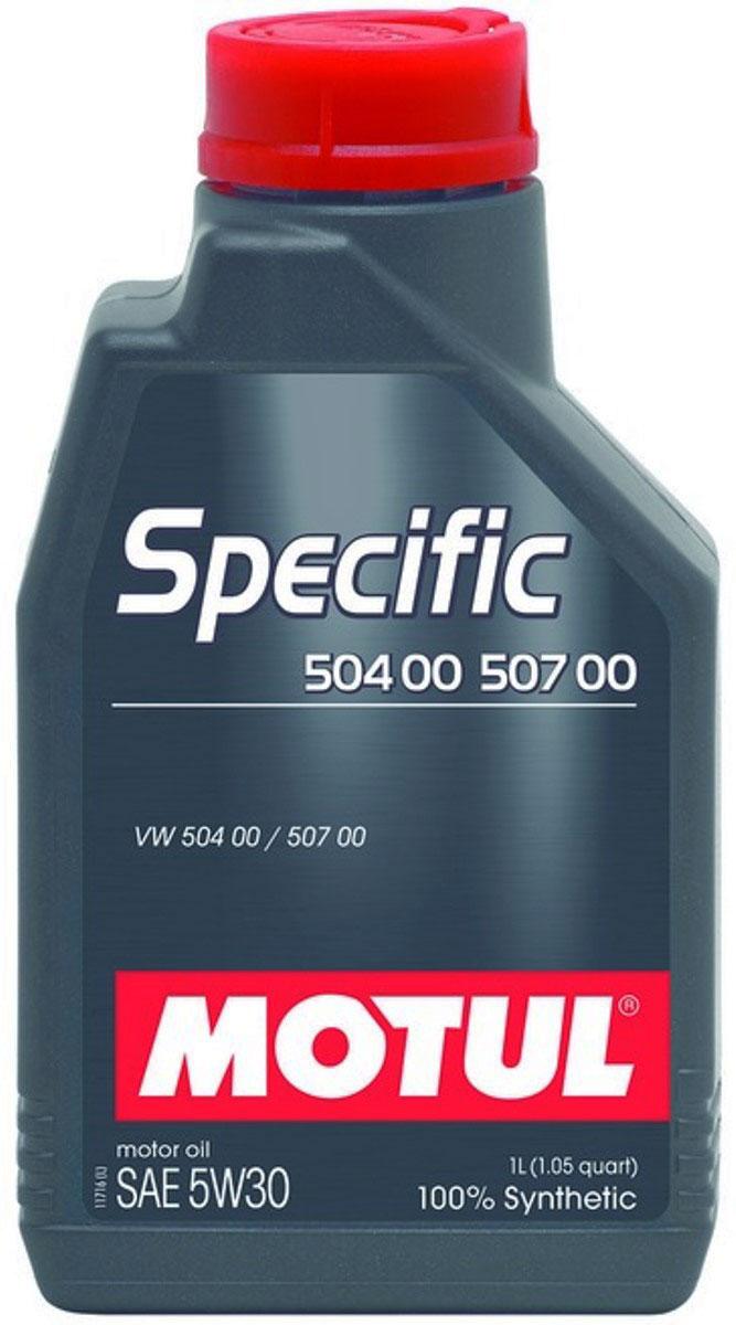 Масло моторное Motul Specific 504 00-507 00 VW, синтетическое, 5W-30, 1 л106374Моторное масло для бензиновых и дизельных двигателей Volkswagen. 100% синтетическое. Специально разработано для новых автомобилей группы VAG (VW, Audi, Skoda, Seat), оснащенных двигателями, соответствующими требованиям нормы Евро IV и Евро V (сниженное содержание серы, фосфора, сулфатированной золы). Motul Specific 504.00 - 507.00 5W30 может использоваться во всех двигателях, требующих использования масла, соответствующего нормам VW, предшествующих 502 00, 505 00, 505 01, 503 00, 503 01, 506 00, 506 01. Интервалы замены масла остаются фиксированными (15 000 км) для всех автомобилей, в которых предусмотрено использование масла отвечающего требованиям норм VW 502 00, 505 00, 505 01 в том числе и для автомобилей, в которых используется Motul Specific 504.00 - 507.00 5W-30. При возникновении сомнений в правильности выбора моторного масла ознакомьтесь с руководством пользователя. Внимание: Для Touareg R5 и V10 TDI, выпущенных с мая 2003 по май 2007 использовать...