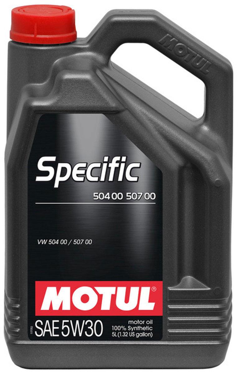 Масло моторное Motul Specific 504 00-507 00 VW, Audi, Seat, Skoda, синтетическое, 5W-30, 5 л106375Моторное масло для бензиновых и дизельных двигателей Volkswagen. 100% синтетическое. Специально разработано для новых автомобилей группы VAG (VW, Audi, Skoda, Seat), оснащенных двигателями, соответствующими требованиям нормы Евро IV и Евро V (сниженное содержание серы, фосфора, сулфатированной золы). Motul Specific 504.00 - 507.00 5W30 может использоваться во всех двигателях, требующих использования масла, соответствующего нормам VW, предшествующих 502 00, 505 00, 505 01, 503 00, 503 01, 506 00, 506 01. Интервалы замены масла остаются фиксированными (15 000 км) для всех автомобилей, в которых предусмотрено использование масла отвечающего требованиям норм VW 502 00, 505 00, 505 01 в том числе и для автомобилей, в которых используется Motul Specific 504.00 - 507.00 5W-30. При возникновении сомнений в правильности выбора моторного масла ознакомьтесь с руководством пользователя. Внимание: Для Touareg R5 и V10 TDI, выпущенных с мая 2003 по май 2007 использовать...