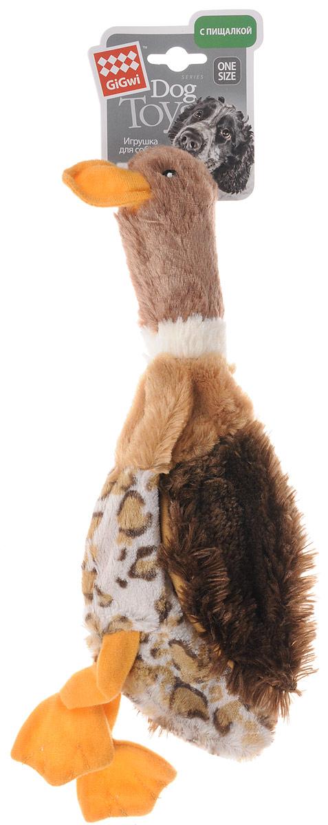 """Игрушка для собак GiGwi """"Утка"""", с пищалкой, длина 35 см 75254"""