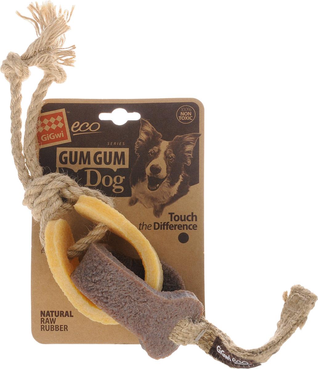 Игрушка для собак GiGwi Резиновая цепь, длина 18 см75318Игрушка для собак GiGwi Резиновая цепь выполнена из натуральных компонентов - 100% нетоксичного каучука и льняного жгута. Вдохновенные природой эти игрушки не вредят здоровью вашего питомца и его зубам, деснам, тем самым обеспечивая здоровую альтернативу для вашего друга.