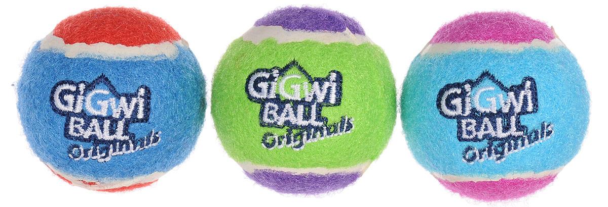 Игрушка для собак GiGwi Мячи, с пищалкой, диаметр 4,8 см, 3 шт75339Игрушка для собак GiGwi Мячи изготовлена из прочной цветной резины с ворсистой поверхностью в виде теннисного мяча. Предназначена для игр с собакой любого возраста. Внутри мяча расположена пищалка. Такая игрушка привлечет внимание вашего любимца и не оставит его равнодушным. Диаметр: 4,8 см.