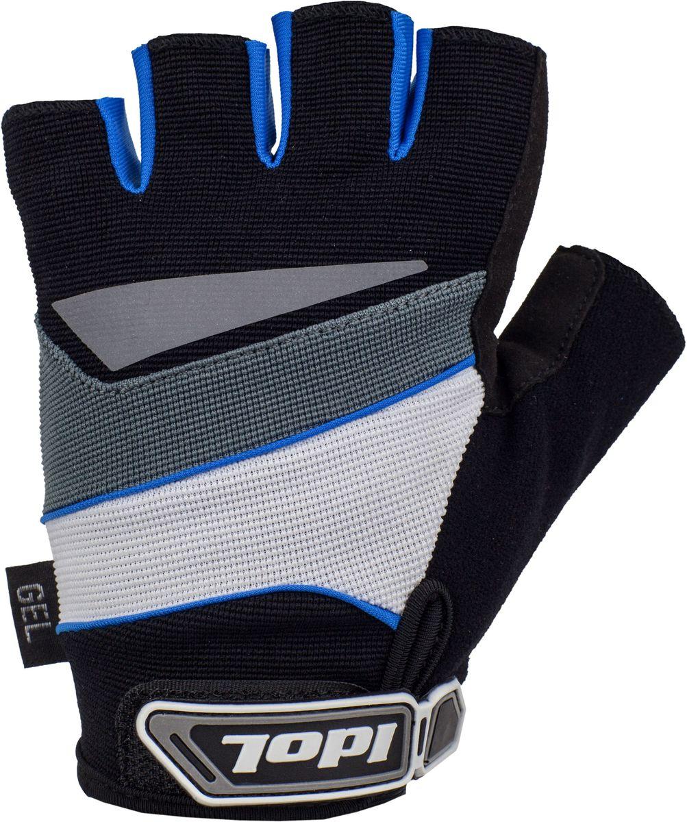 Перчатки велосипедные Idol Lech, цвет: черный, синий. Размер L2703Велосипедные перчатки Idol, LECH 2703 предназначены для велоспорта, велотуризма, велосипедных прогулок. Линия ХС - Открытые пальцы - Верх: высококачественный материал 4-way stretch повышенной дышимости - Ладонь: синтетическая кожа Amara - Гелевая вставка на ладони - Влагоотводящий материал на большом пальце - Двойной шов в критических местах - Светоотражающий элемент на тыльной стороне кисти - Веревочные петли для снимания - Липучка для фиксации перчатки на руке Высокое качество материалов, стильный дизайн, функциональность и прочность выделяют велоперчатки Idol среди прочих.