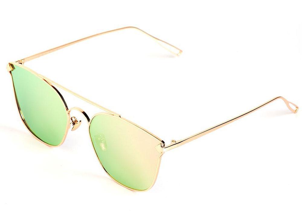 Очки солнцезащитные женские Selena, цвет: золотистый, розовый. 8003545180035451100% защита от ультрафиолетовых лучей. Размер (ширина линзы*ширина моста-длина дужки) 56*17-155