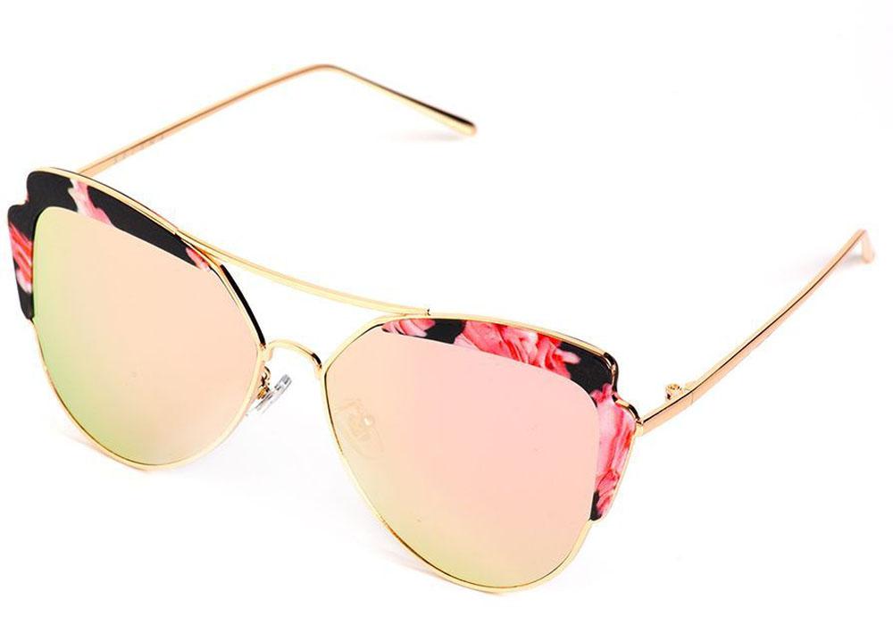 Очки солнцезащитные женские Selena, цвет: розовый. 8003547180035471100% защита от ультрафиолетовых лучей. Размер (ширина линзы*ширина моста-длина дужки) 56*20-130