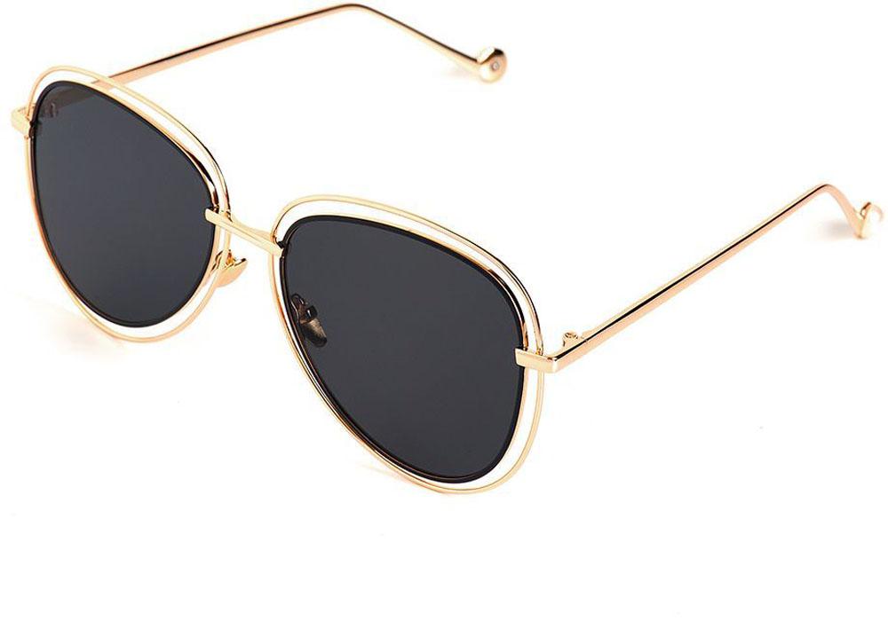 Очки солнцезащитные женские Selena, цвет: золотистый, черный. 8003549180035491Солнцезащитные женские очки Selena выполнены из качественного материала. Линзы очков обеспечивают 100% защиту от ультрафиолетовых лучей. Такие очки защитят глаза от ультрафиолетовых лучей, подчеркнут вашу индивидуальность и сделают ваш образ завершенным. Размер (ширина линзы*ширина моста-длина дужки) 58*12-145.
