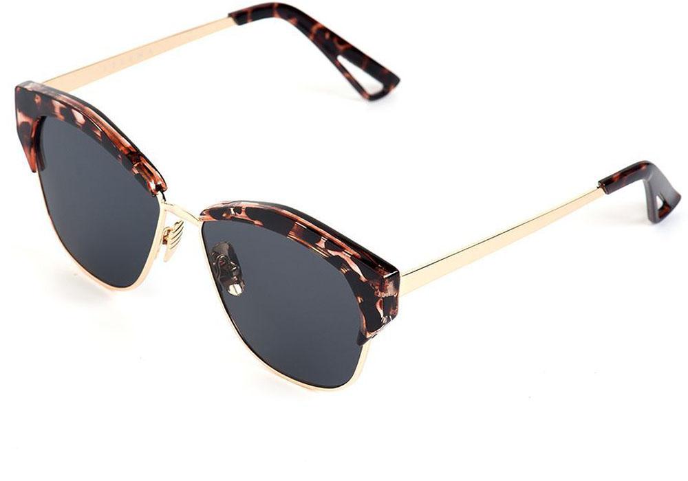 Очки солнцезащитные женские Selena, цвет: золотистый, коричневый. 8003559180035591100% защита от ультрафиолетовых лучей. Размер (ширина линзы*ширина моста-длина дужки) 55*15-155