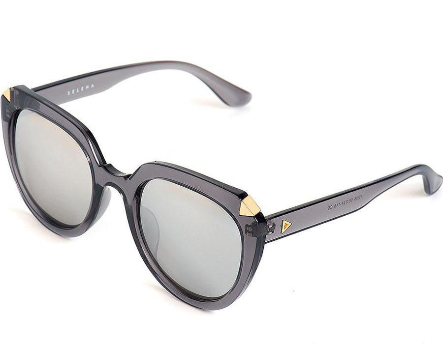 Очки солнцезащитные женские Selena, цвет: серый. 8003567180035671100% защита от ультрафиолетовых лучей. Размер (ширина линзы*ширина моста-длина дужки) 56*24-148