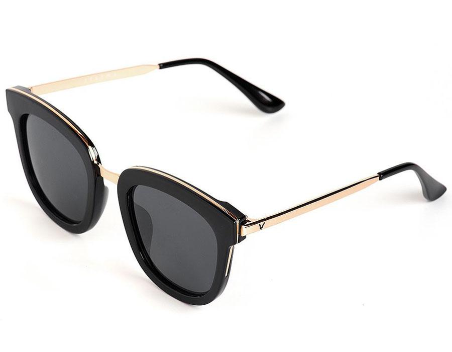 Очки солнцезащитные женские Selena, цвет: черный. 8003569180035691100% защита от ультрафиолетовых лучей. Размер (ширина линзы*ширина моста-длина дужки) 52*25-147