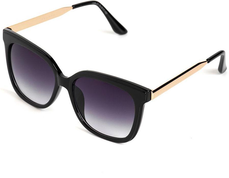 Очки солнцезащитные женские Selena, цвет: черный, золотой. 8003571180035711Солнцезащитные женские очки Selena выполнены из качественного материала. Линзы очков обеспечивают 100% защиту от ультрафиолетовых лучей. Такие очки защитят глаза от ультрафиолетовых лучей, подчеркнут вашу индивидуальность и сделают ваш образ завершенным. Размер (ширина линзы*ширина моста-длина дужки) 54*17-152.