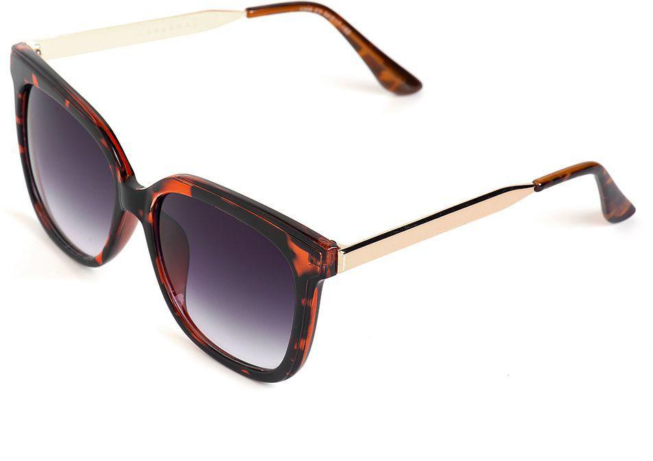 Очки солнцезащитные женские Selena, цвет: золотистый, коричневый. 8003573180035731100% защита от ультрафиолетовых лучей. Размер (ширина линзы*ширина моста-длина дужки) 54*17-152