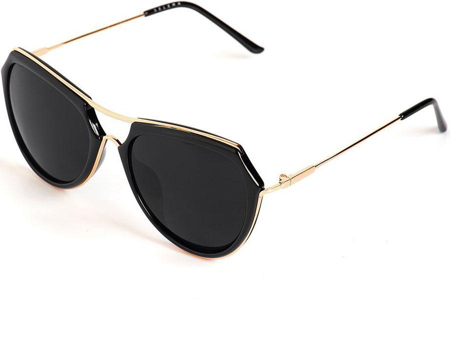Очки солнцезащитные женские Selena, цвет: черный. 8003579180035791100% защита от ультрафиолетовых лучей. Размер (ширина линзы*ширина моста-длина дужки) 56*20-140