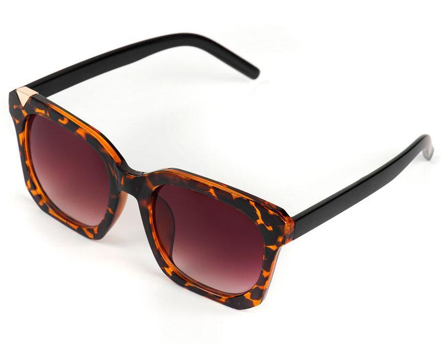 Очки солнцезащитные женские Selena, цвет: коричневый. 8003599180035991100% защита от ультрафиолетовых лучей. Размер (ширина линзы*ширина моста-длина дужки) 54*22-145
