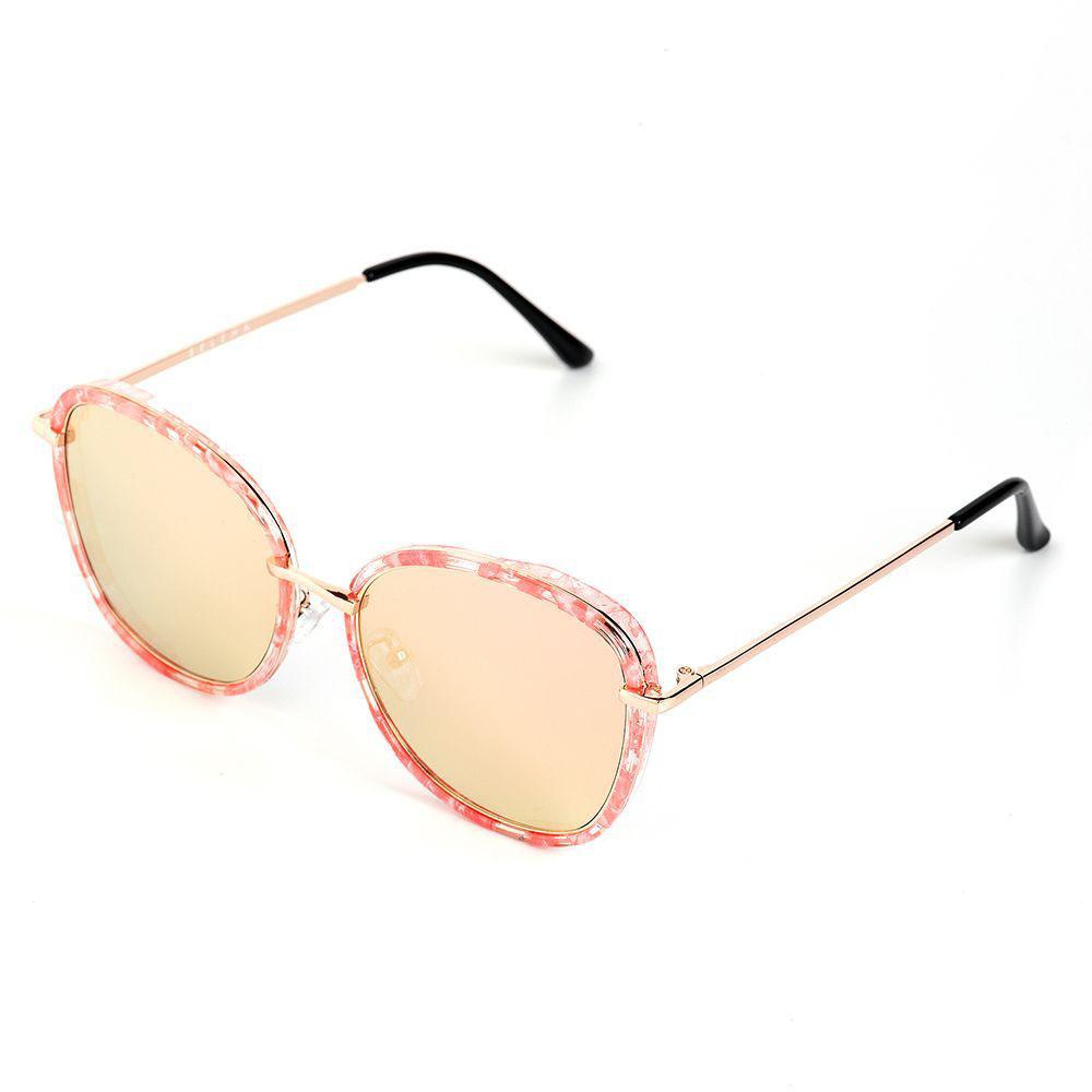 Очки солнцезащитные женские Selena, цвет: золотистый, розовый. 8003614180036141100% защита от ультрафиолетовых лучей. Размер (ширина линзы*ширина моста-длина дужки) 53*22-145