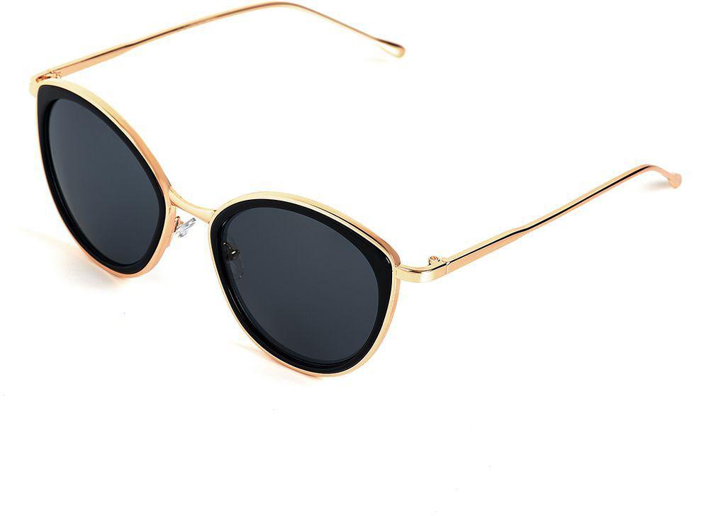 Очки солнцезащитные женские Selena, цвет: золотистый, черный. 8003616180036161Солнцезащитные женские очки Selena выполнены из качественного материала. Линзы очков обеспечивают 100% защиту от ультрафиолетовых лучей. Такие очки защитят глаза от ультрафиолетовых лучей, подчеркнут вашу индивидуальность и сделают ваш образ завершенным. Размер (ширина линзы*ширина моста-длина дужки) 55*19-140.