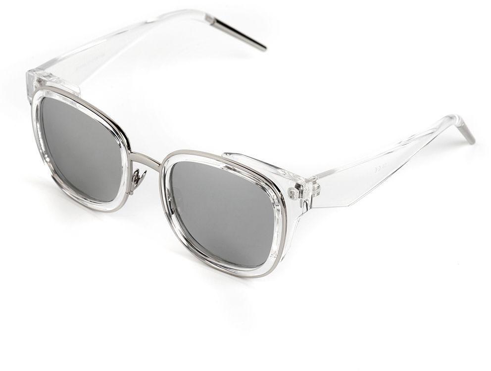 Очки солнцезащитные женские Selena, цвет: серебристый, серый. 8003643180036431100% защита от ультрафиолетовых лучей. Размер (ширина линзы*ширина моста-длина дужки) 55*18-138