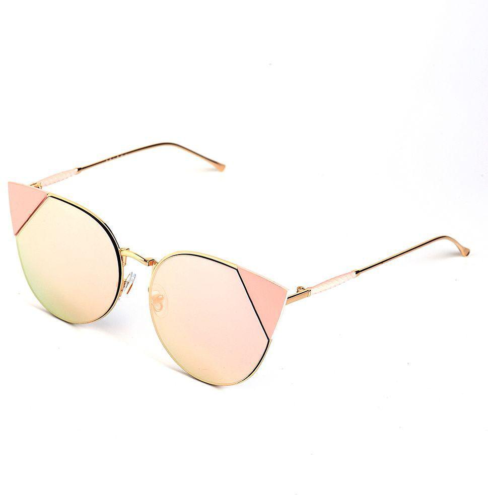 Очки солнцезащитные женские Selena, цвет: золотистый, розовый. 8003655180036551100% защита от ультрафиолетовых лучей. Размер (ширина линзы*ширина моста-длина дужки) 58*15-150