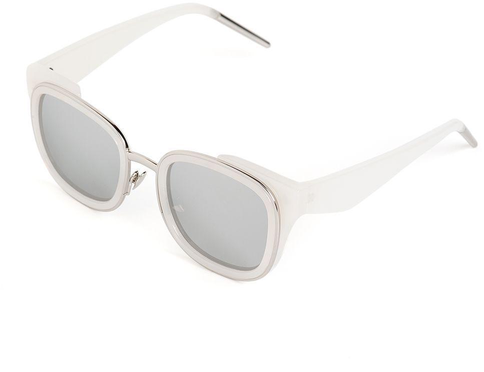 Очки солнцезащитные женские Selena, цвет: серебристый, серый. 8003657180036571100% защита от ультрафиолетовых лучей. Размер (ширина линзы*ширина моста-длина дужки) 49*15-145
