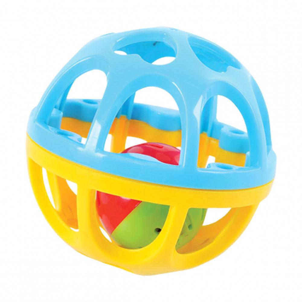 Playgo Развивающая игрушка Мяч-погремушка цвет бирюзовый желтый  недорого
