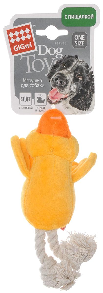 Игрушка для собак GiGwi Утка, с пищалкой, длина 15 см75052Игрушка для собак GiGwi Утка порадует вашу собаку и доставит ей море веселья. Несмотря на большое количество материалов, большинство собак для игры выбирают классические плюшевые игрушки. Такие игрушки можно носить, уютно прижиматься во сне, жевать. Некоторые собаки просто любят взять в зубы игрушку и ходить с ней повсюду. Мягкие игрушки сохраняют запах питомца, поэтому он каждый раз к ней возвращается. Милые, мягкие и приятные зверушки характеризуются высоким качеством исполнения и привлекательным дизайном. Внутри игрушки нет наполнителя, что поможет сохранить чистоту в помещении. Игрушка снабжена пищалкой.