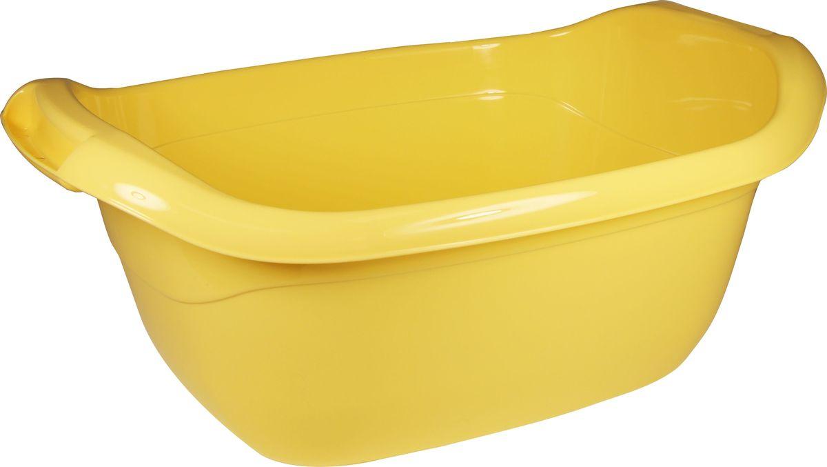 Таз овальный Idea, цвет: банановый, 10 л. М 2544М 2544_банановый