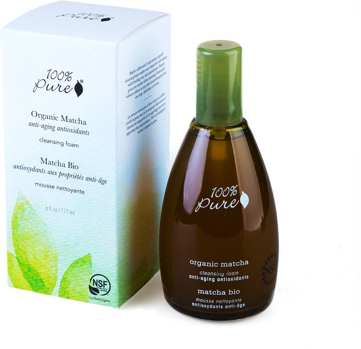 100% Pure Коллекция Зелёный Чай Matcha: Органическая пенка для умывания 177 мл1FCOMCFМультивитамины и антиоксиданты. Cодержащая кофеин, нежная и бодрящая очищающая пенка удаляет загрязнения и остатки макияжа, одновременно насыщая мультивитаминами вашу кожу. Органический зеленый Чай успокаивает и очищает. Пенка не содержит сульфатов и других агрессивных моющих средств. Органическая сертификация NSF.