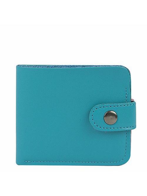 Кошелек Kawaii Factory, цвет: бирюзовый. KW057-000625KW057-000625Классический складной кошелек от Kawaii Factory, изготовленный из экокожи, прекрасно впишется в любой стиль. Он оснащен одним отделением для купюр, прорезными кармашками для карточек. Аксессуар поместится даже в миниатюрную сумочку. Кошелек на застежке-кнопке отличается строгим эргономичным дизайном и универсальностью.