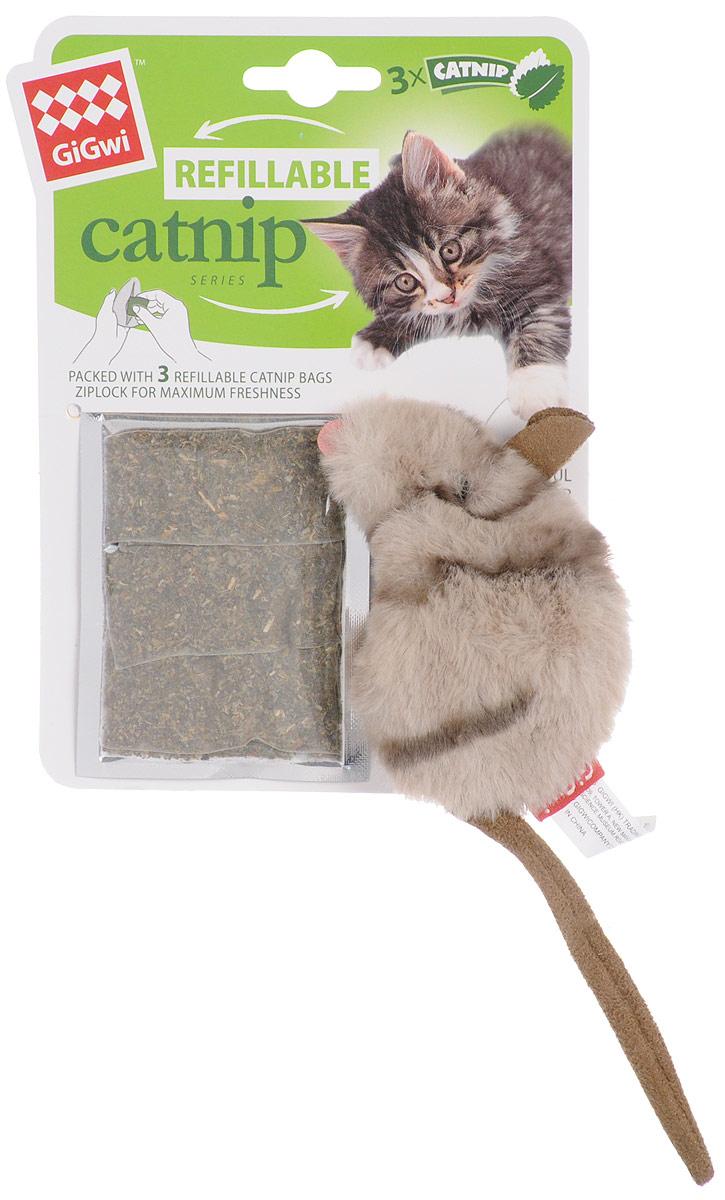 Игрушка для кошек GiGwi Мышка, с кошачьей мятой, длина 10 см. 75382 куплю 3 х комнатную квартиру в елшанке