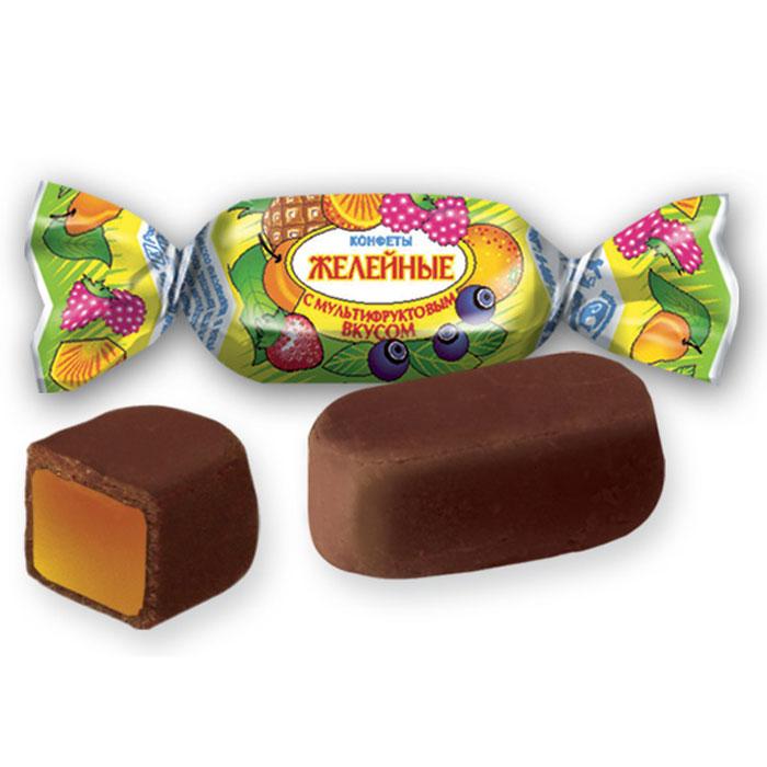 Желейные конфеты с мультифруктовым вкусом, 250 г (Тамбов)