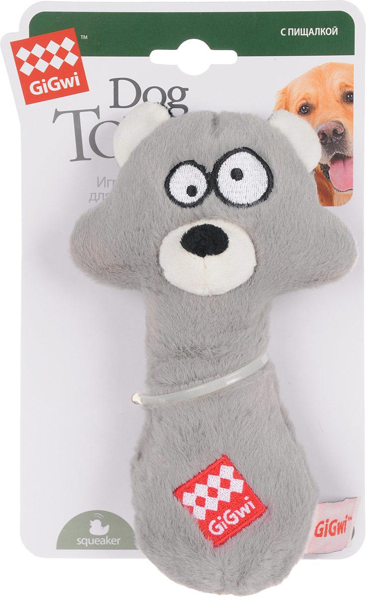 Игрушка для собак GiGwi Енот с резиновым наполнителем и пищалкой, длина 18 см75255Игрушка для собак GiGwi Енот выполнена из плотной резины. Игрушка подходит для активной игры. Прочный, неабразивный, нетоксичный материал не ранит зубы. Игрушка оснащена пищалкой.