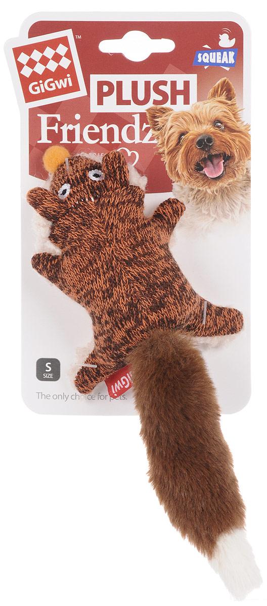 """Игрушка для собак GiGwi """"Лиса"""", с пищалкой, длина 9 см 75385"""
