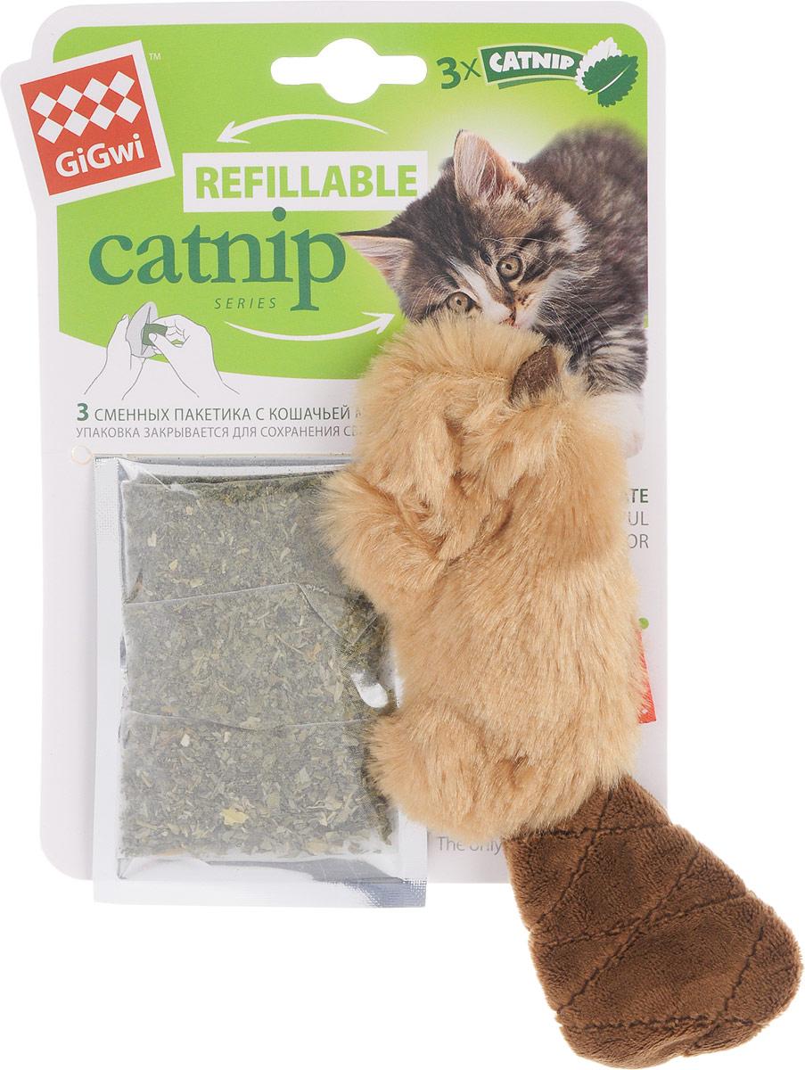 Игрушка для кошек GiGwi Бобер, с кошачьей мятой, длина 16 см куплю 3 х комнатную квартиру в елшанке