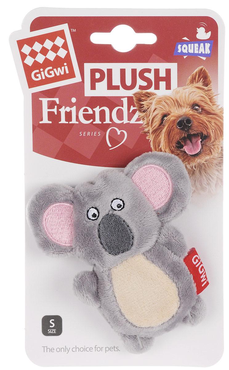 """Игрушка для собак GiGwi """"Коала"""", с пищалкой, длина 9,5 см 75346"""