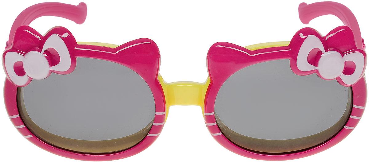 Очки солнцезащитные для девочки Vitacci, цвет: красный. 13807-513807-5Стильные солнцезащитные очки Vitacci выполнены из пластика с открывающими линзами оригинальной формы. Линзы дополнены защитой от ультрафиолетового излучения. Оправа очков легкая, прилегающей формы и обеспечивает максимальный комфорт. Такие очки станут прекрасным и модным аксессуаром и порадуют вашего ребенка.
