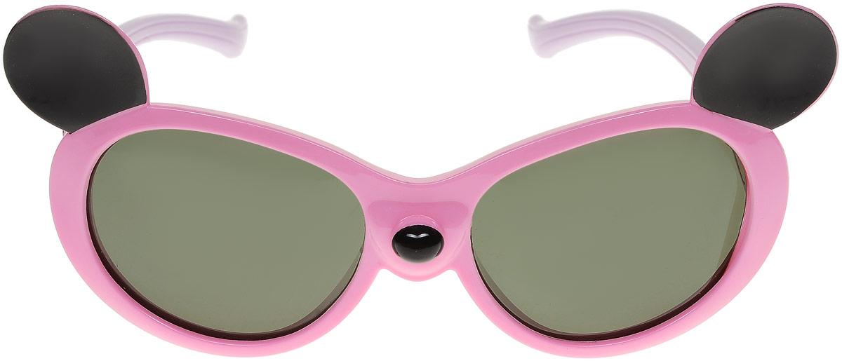 Очки солнцезащитные детские Vitacci, цвет: розовый. 13806-1113806-11Стильные солнцезащитные очки Vitacci выполнены из пластика. Линзы дополнены защитой от ультрафиолетового излучения. Оправа очков легкая, прилегающей формы и обеспечивает максимальный комфорт. Такие очки станут прекрасным и модным аксессуаром и порадуют вашего ребенка.