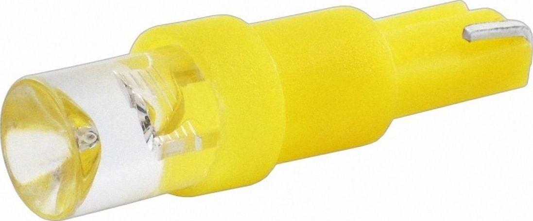 Автолампа светодиодная Jpower, цвет: желтый. T5-1LEDT5-1LED желтыйСветодиод J-POWER T5 вогнутая подсветка желтая, используется для подсветки приборной панели.