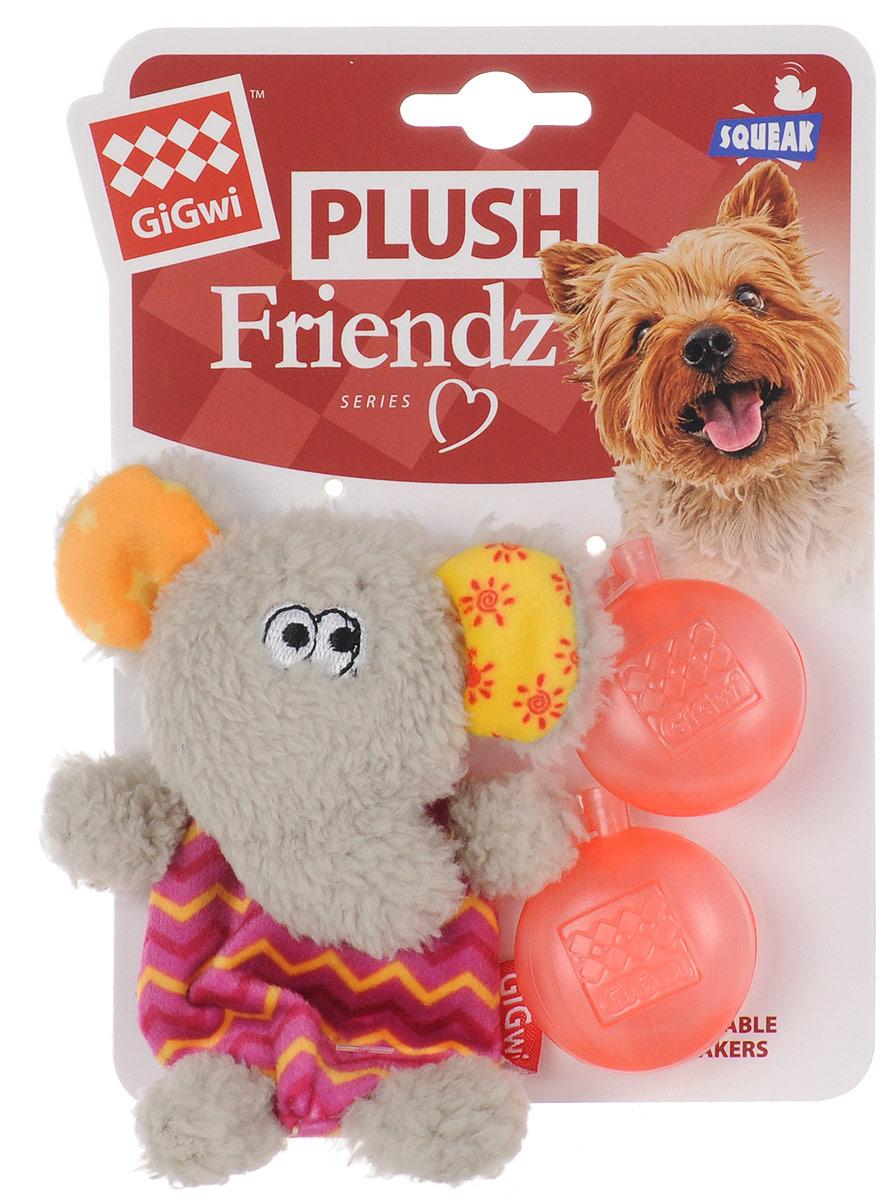 """Игрушка для собак GiGwi """"Слон"""", с пищалкой, высота 13 см 75302"""