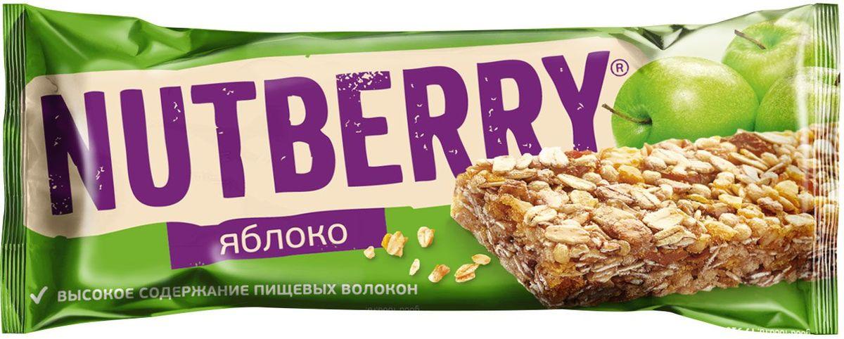 Nutberry неглазированный батончик из сухофруктов мюсли яблочный, 26 г4620000678601Яблоко, фундук и мед – прекрасное сочетание вкусов в батончике мюсли Nutberry и вариант замены традиционным сладостям. Натуральные сухофрукты, пшеничные, рисовые и овсяные хлопья – источники энергии на каждый день.