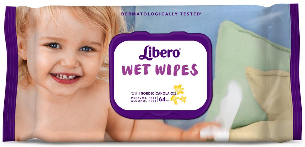 Libero Влажные салфетки Wet Wipes сменный блок 64 шт