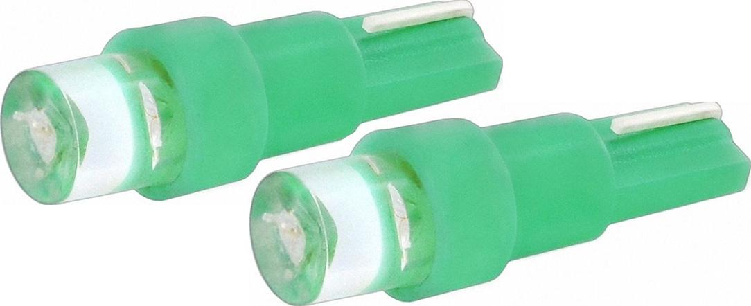 Автолампа светодиодная Jpower, цвет: зеленый, 2 шт. T5-1LEDT5-1LED зеленый (2 шт.)Светодиод J-POWER T5 вогнутая подсветка зеленый, используется для подсветки приборной панели.